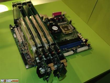 Le Quad SLI de NVIDIA pour le CeBit 2006 du 22 mars