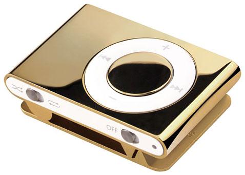 Nouveau -  Un Apple iPod Shuffle en or qui vaut 14 000 euros.