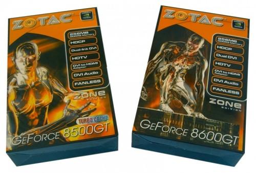 Test : Cartes graphiques Zotac 8500 GT et 8600 GT Zone Edition.