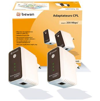 Test du kit CPL, Bewan Powerline E200Plus