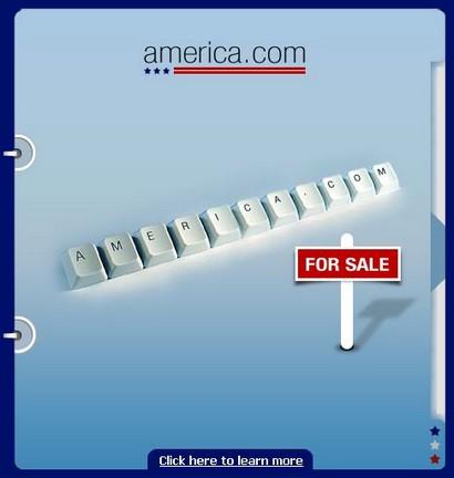 America.com, nom de domaine aux enchères le 22 mai 2008