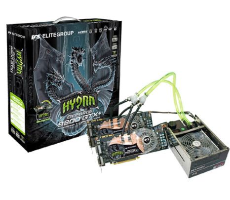 ECS GeForce 9800 GTX+ Hydra Pack, Pack cartes graphiques et watercooling