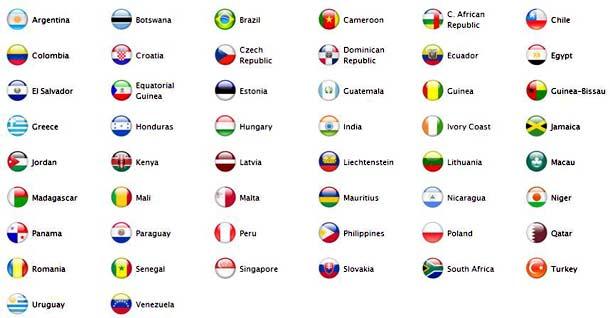 L'Apple iPhone 3G dans 22 nouveaux pays le 22 août 2008.