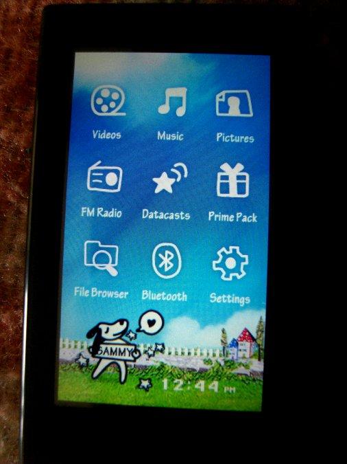 Photos du PMP (Baladeur Multimédia) Samsung Yepp YP-P2 22