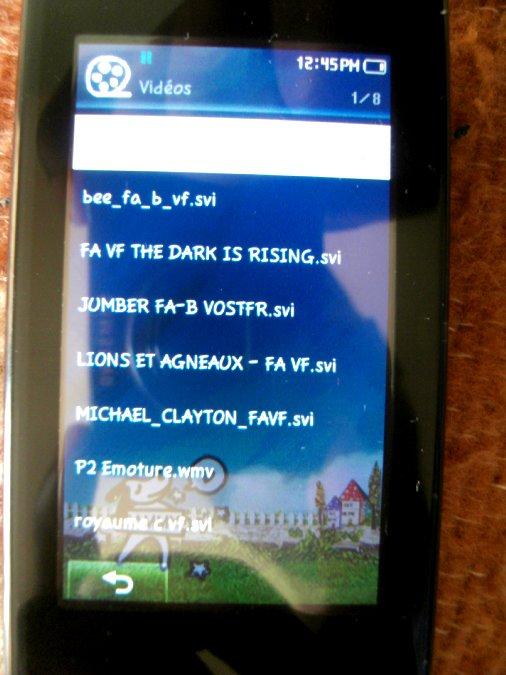 Photos du PMP (Baladeur Multimédia) Samsung Yepp YP-P2 23