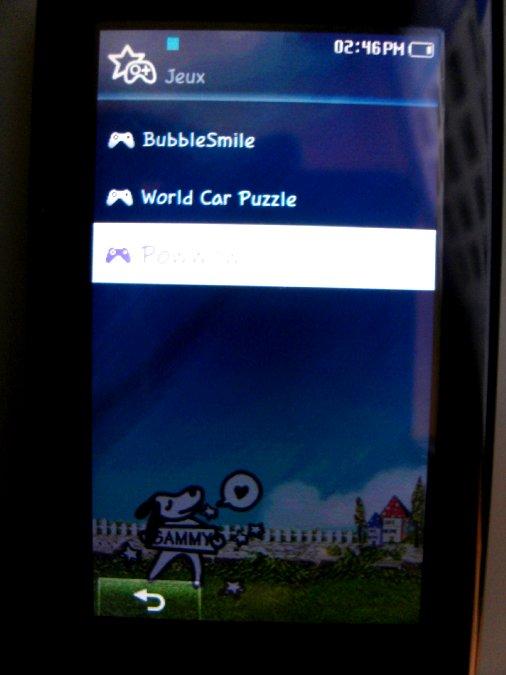 Photos du PMP (Baladeur Multimédia) Samsung Yepp YP-P2 41