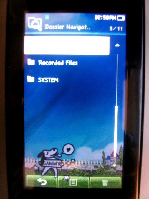 Photos du PMP (Baladeur Multimédia) Samsung Yepp YP-P2 48