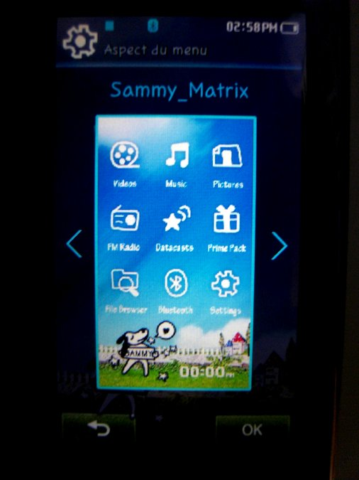 Photos du PMP (Baladeur Multimédia) Samsung Yepp YP-P2 56
