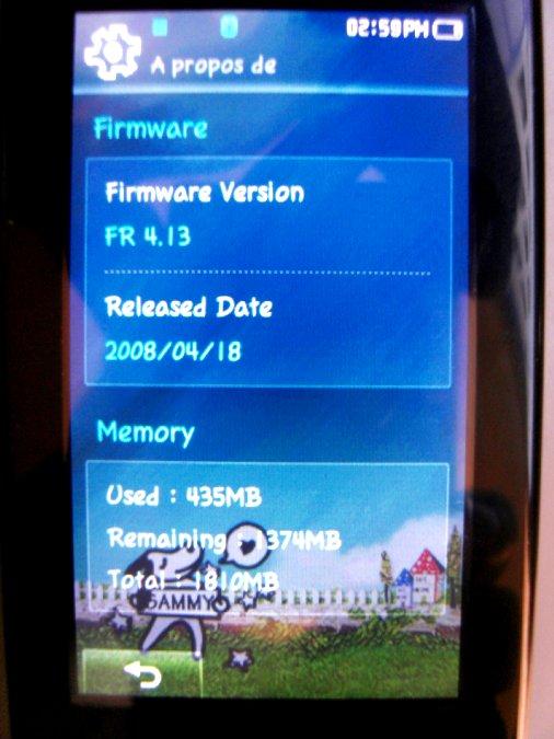 Photos du PMP (Baladeur Multimédia) Samsung Yepp YP-P2 58