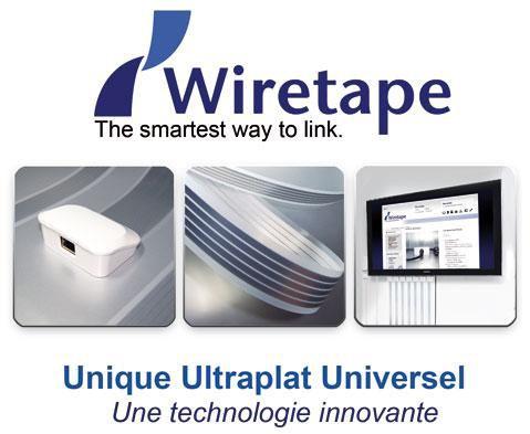 Câble universel ultra-plat de Wiretape