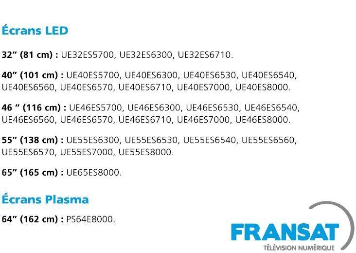 TV Samsung compatible TNT FRANSAT