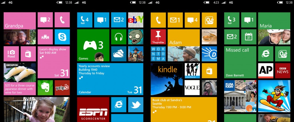 Windows Phone 8 - Ecran Accueil - Personnalisation 01