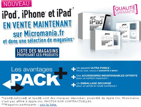 Micromania - Vente - iPod - iPhone - iPad