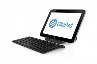 HP ElitePad 900 with Keyboard Left Facing