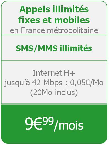Forfait Illimites 24-24 - 9 euros