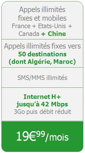 Forfait Illimites 24-24 - Internet 3Go