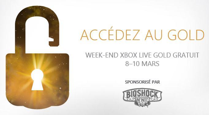 Xbox LIVE Gold - Week-end Gratuit (Free)