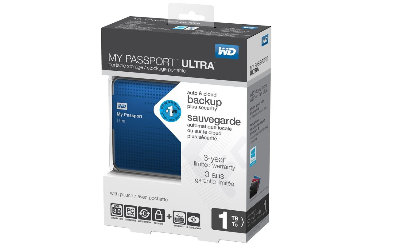 WD My Passport Ultra 1To - Pack