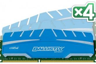 Crucial Ballistix Sport XT - Kit 4 modules