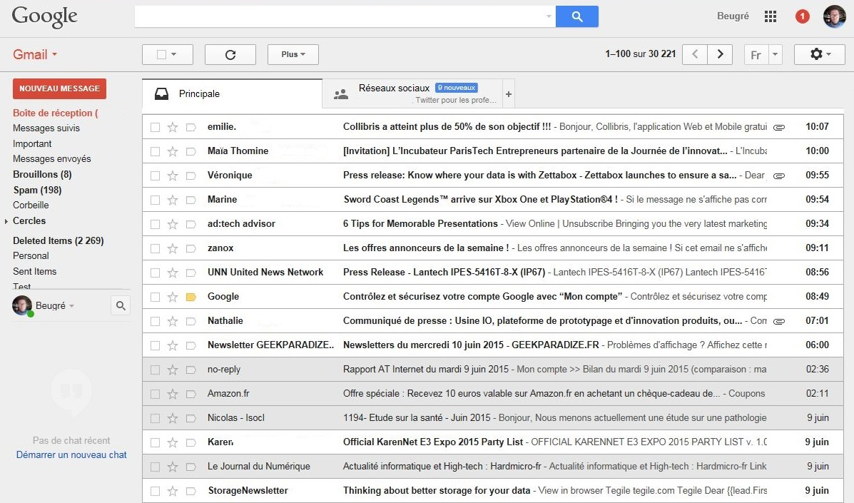 Capture Emailing Gmail