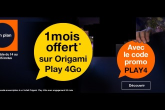 Promo Orange Origami Play 4Go