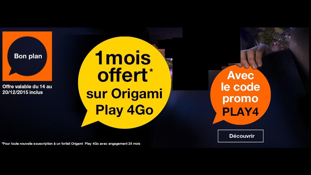 Promo Orange Origami Play 4Go