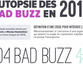 Bad Buzz 2016 - Infographie Visibrain